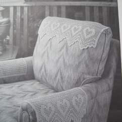 Chair Arm Covers Pattern Design For Office Crochet Antimacassar Set Headrest And