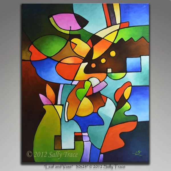 Abstract Painting Acrylic Cubist Life
