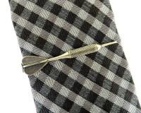Dart Tie Bar Dart Tie Clip Sterling Silver & Antiqued Brass