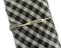 Dart Tie Bar Dart Tie Clip Sterling Silver & Antiqued Brass