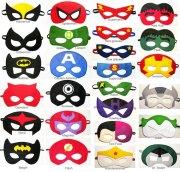 4 felt superhero masks party pack