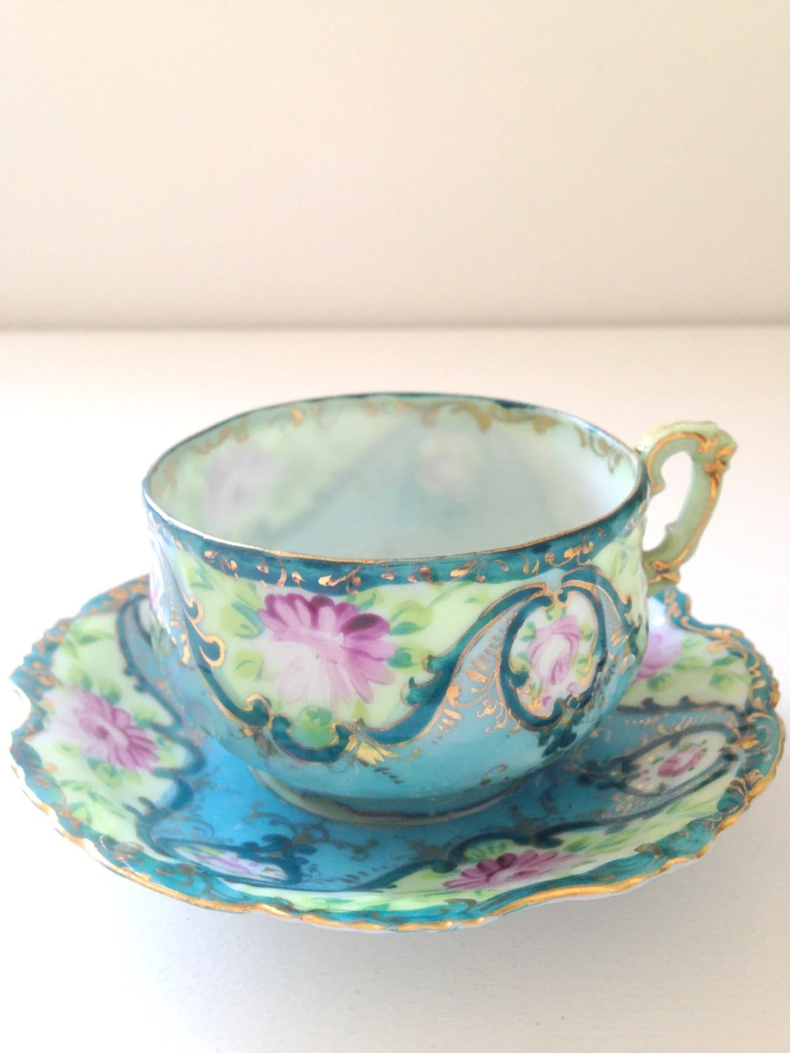 Vintage Handcrafted Porcelain Japan Fine China Tea Cup and