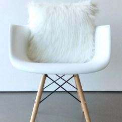 Fur Chair Cover Alera Office Chairs Review Scandinavian Modern White Pillow 16 X Fluffy