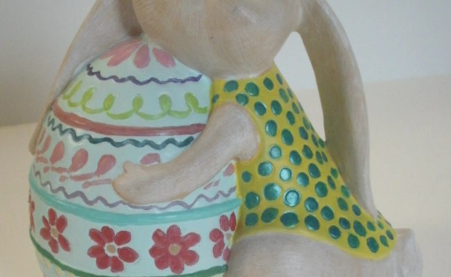 Gifts For Her Bunny Rabbit Decor Yellow Kitchen Decorated Eggs