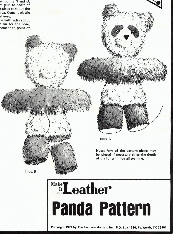 panda bear pattern