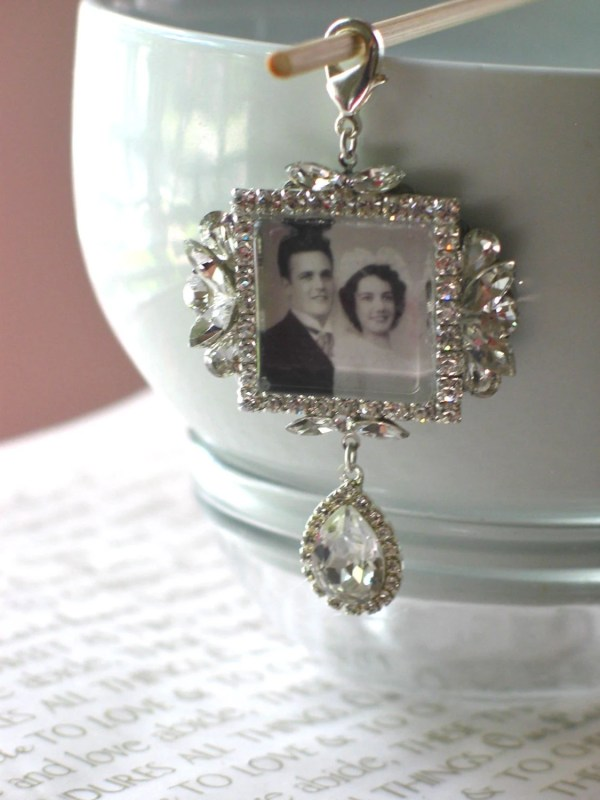 Memory Wedding Bouquet Charm Bridal