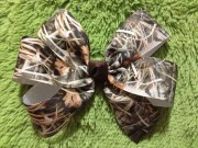 set of 2 large camo hair bows perfect