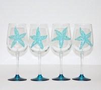 Sea star Starfish wine glasses Set of 4 by ...