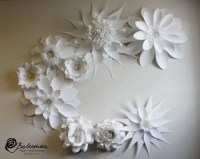 Items similar to Paper Flower Handmade Wall Collage for
