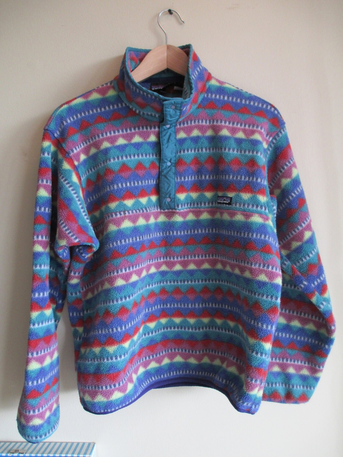 Patagonia Pullover Rare Vintage Patagonia Aztec Tribal Print Pullover Fleece