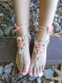 Flower Barefoot Sandal Crochet Pattern Free