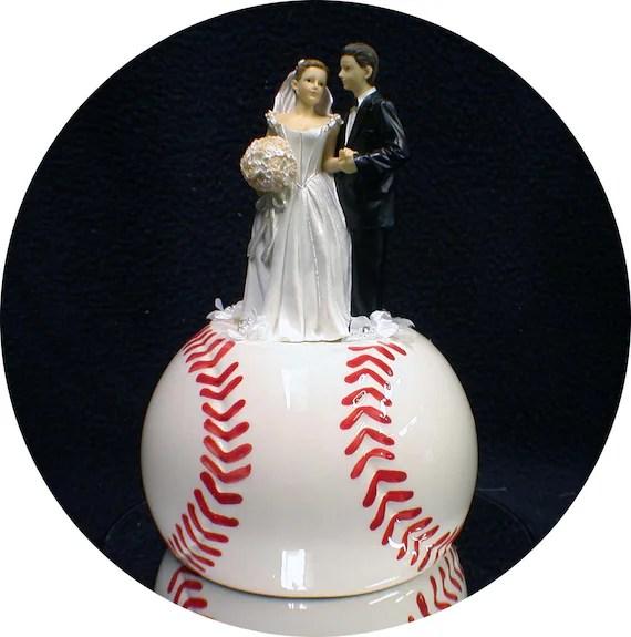 Baseball Softball sports Lovers Wedding Cake by YourCakeTopper