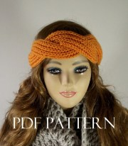 knitting pattern headband twisted