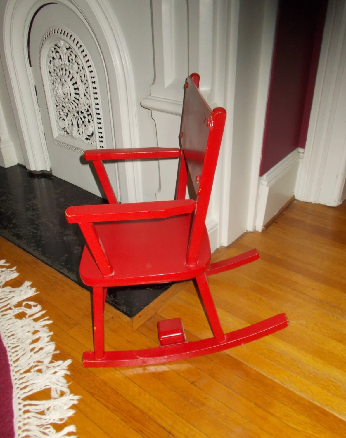 Red Rocking Chair Vintage Child 39s Red Rocking Chair Musical Rocker Swiss