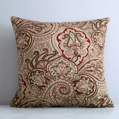 Wine Sofa Throws Red Throw Pillows Paisley Pillow Cover 16x16 Decorative