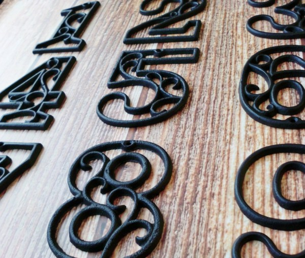House Numbers Cast Iron Black Wall Hangers Decorative