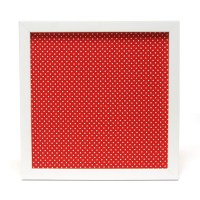 Magnetic board wall decor in red with white polka dot
