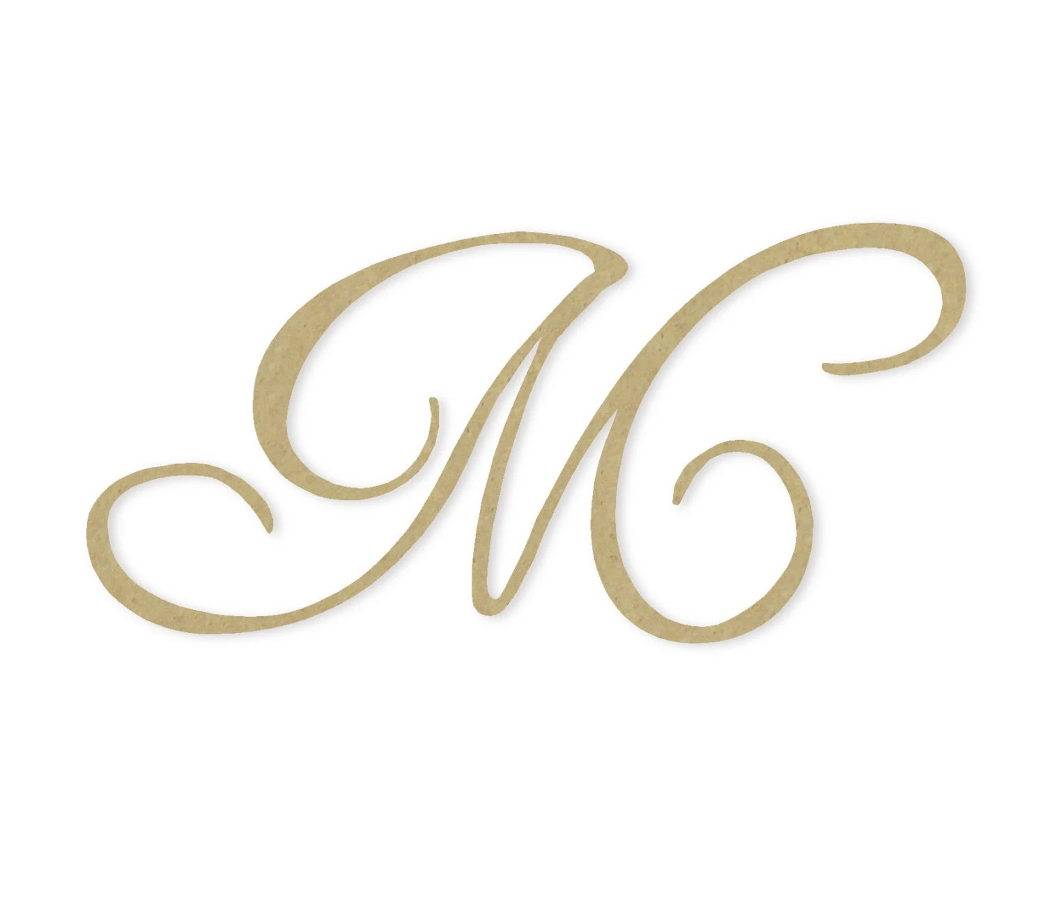 Wooden Monogram Letter M Large Or Small Unfinished By Buildeez