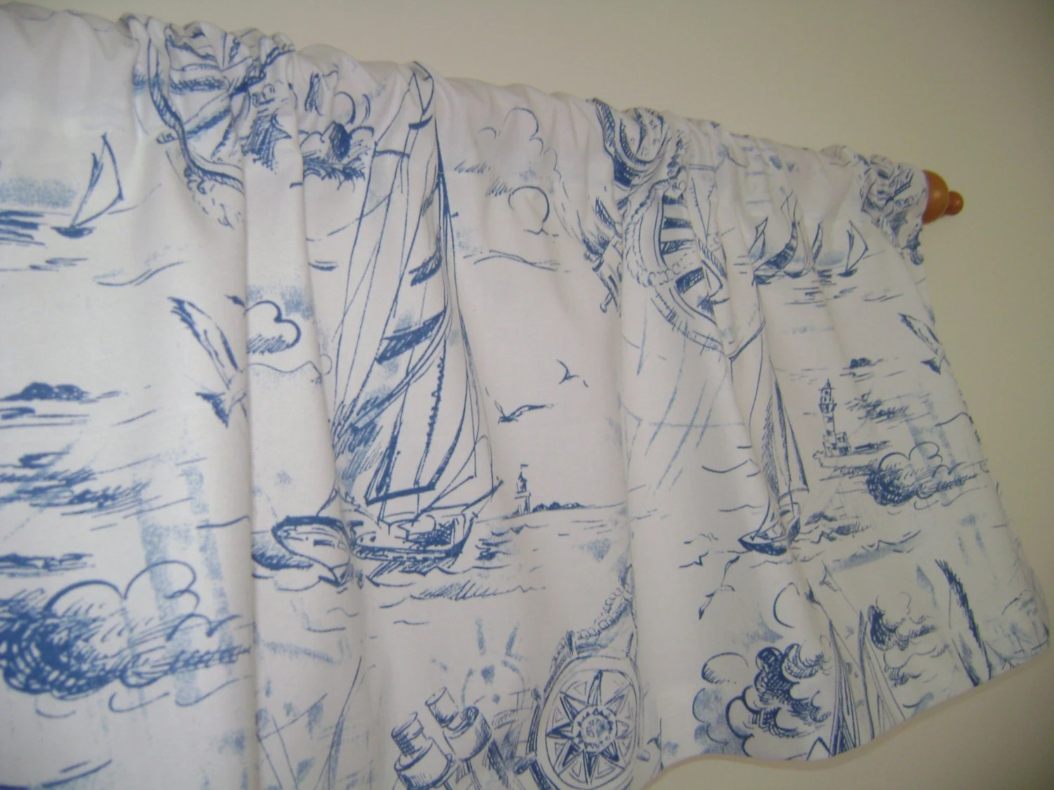 Sailboat Valance Sailing Valance Nautical Valance Beach