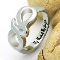 Infinity Ring for Mother Mom Promise Ring Double Infinity