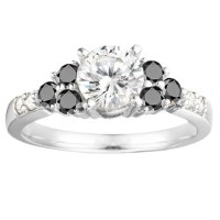 Traditional Three Stone Promise ring .76ctw by ...