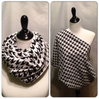 Infinity Scarf/Breastfeeding cover Black houndstooth PICK