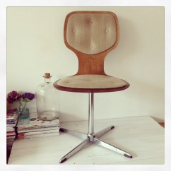 Swivel Chair Inventor Room And Board Leather Office Vintage 1960s Design