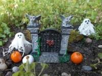 Items similar to Halloween Garden Entrance, Pumpkins ...