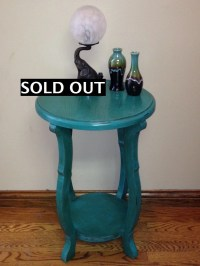 SOLD Unique Accent table/side table/novelty painted with