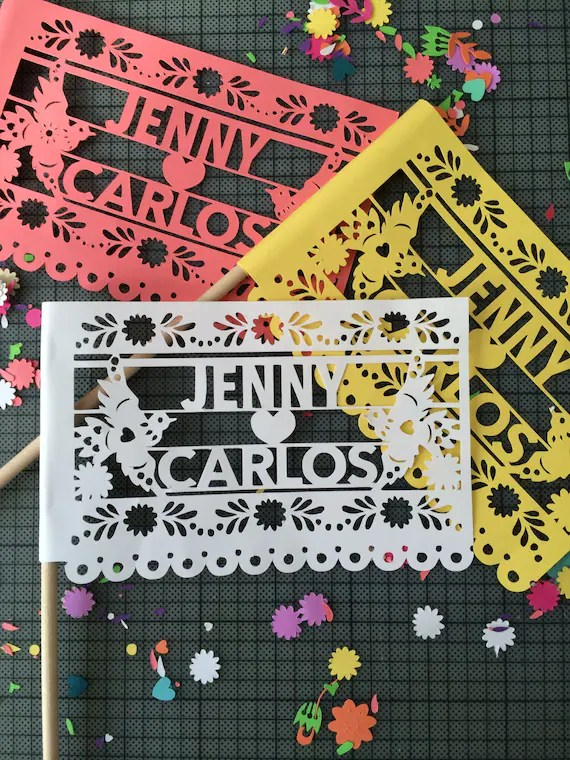 Papel Picado Mexican Wedding Flags Customized Banners By