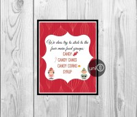 Buddy The Elf Movie Quote Print Christmas Art Kitchen Wall