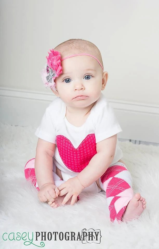 Items Similar To Baby Girl Valentines Day Onesie And Leg