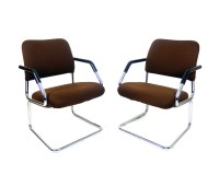 Mid Century Modern Cantilever Chairs Retro by stonesoupology