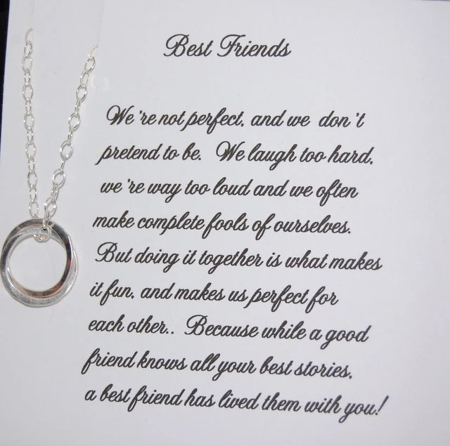 BEST FRIEND Necklace Bridesmaid Gift by SoBlessedDesigns
