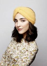 angora wool handknitted headband