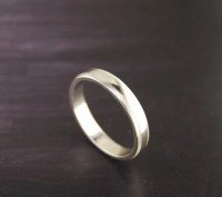 Plain Milgrain Silver Ring/Band 4mm .925 by Silvershowroom