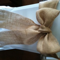 Burlap Chair Sashes U Shaped Cushions Great For A Wedding Or Other Special