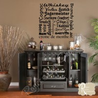 Bar Wall Decal Liquor Names Word Art Bar Wall Decor Bar Art