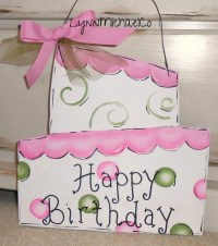 Items similar to Birthday Cake Door Hanger, Birthday Door ...