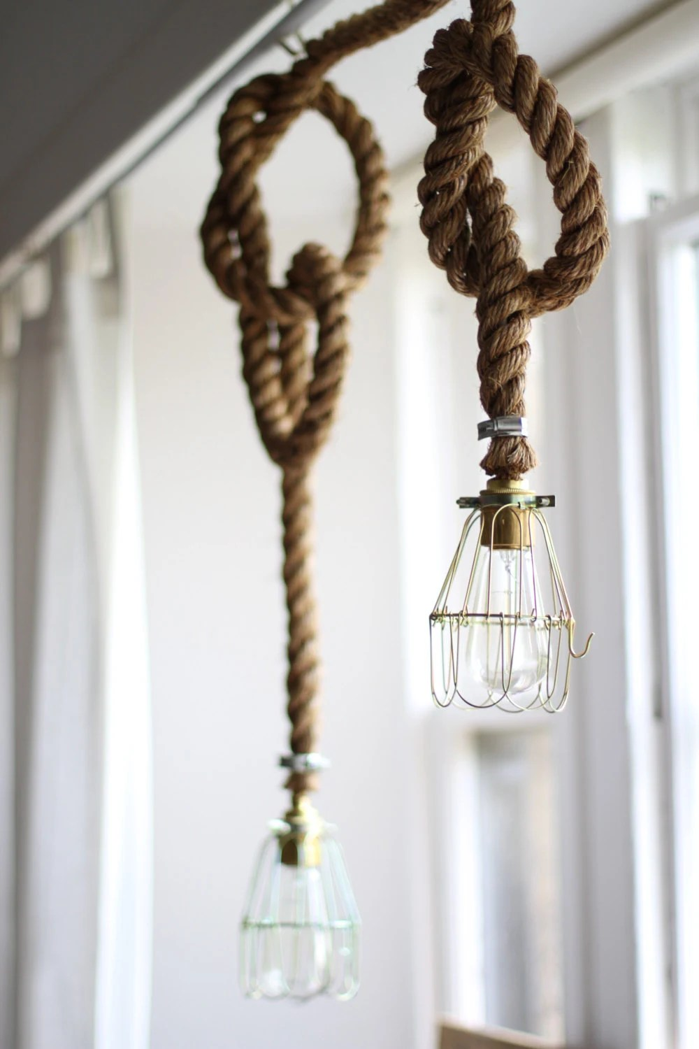 Edison Bulb Rope Lamp Rope Light Fitting By