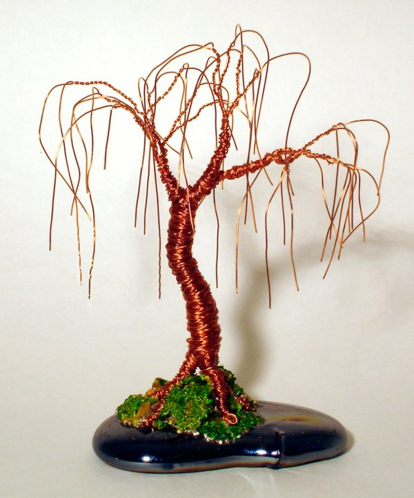 Willow Of Copper Wire Tree Sculpture Original