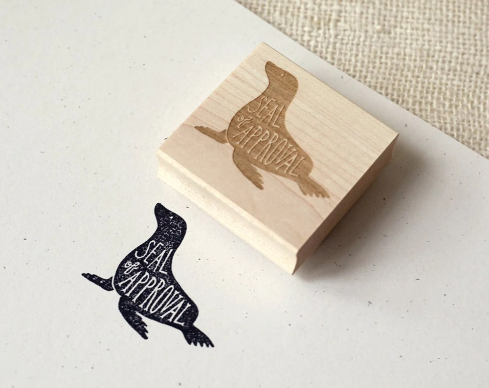 Rubber Stamp Seal of Approval by witandwhistle on Etsy