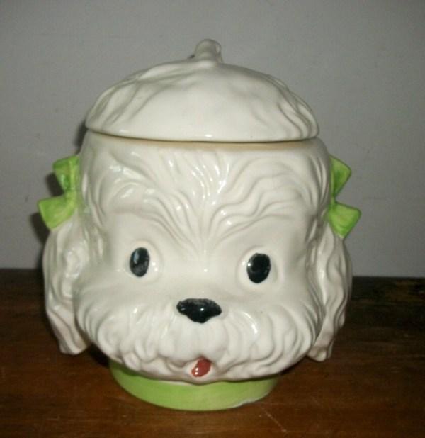 Dog Head Cookie Jar