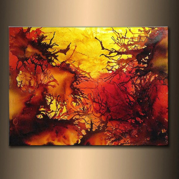 Original Contemporary Modern Colorful Canvas Art Henry