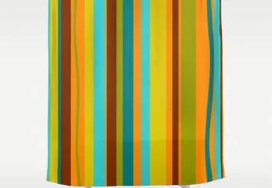 Mid Century Shower Curtain