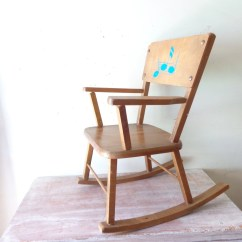 Kids Wood Rocking Chair Desk Slipcover On Hold For Sheree Vintage Childrens Wooden