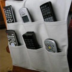 Remote Control Holder For Chair Pattern Folding Plans Caddy Tv Dvd 6 Pocket Medium Gray