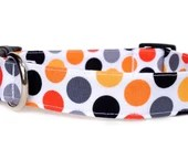 Fall Dog Collar / Polka Dot Dog Collar / Thanksgiving Dog Collar / Orange Polka Dot Dog Collar