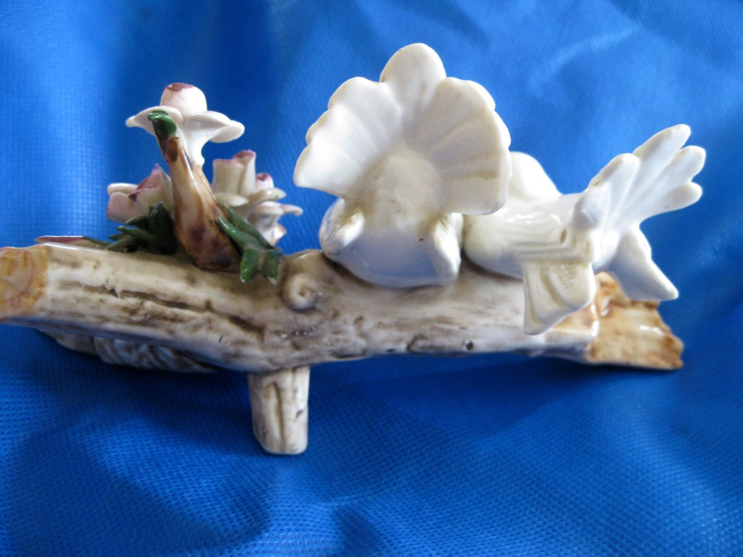 Capodimonte Birds On A Branch With Flowers By Chichat On Etsy