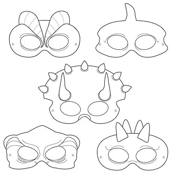 Dinosaurs Printable Coloring Masks dinosaur masks